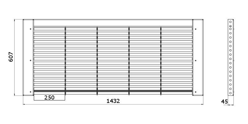 Чертеж столешницы для размещения 5 аккумуляторов