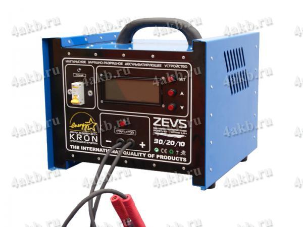 Импульсное зарядно-разрядное десульфатирующее устройство Zevs-40/60/10.
