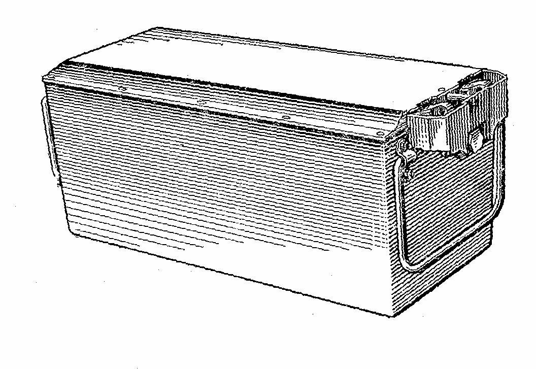Танковая аккумуляторная батарея 12СТ-85Р в корпусе из пресс-материала ДСВ-К-1 (стеклопластика)