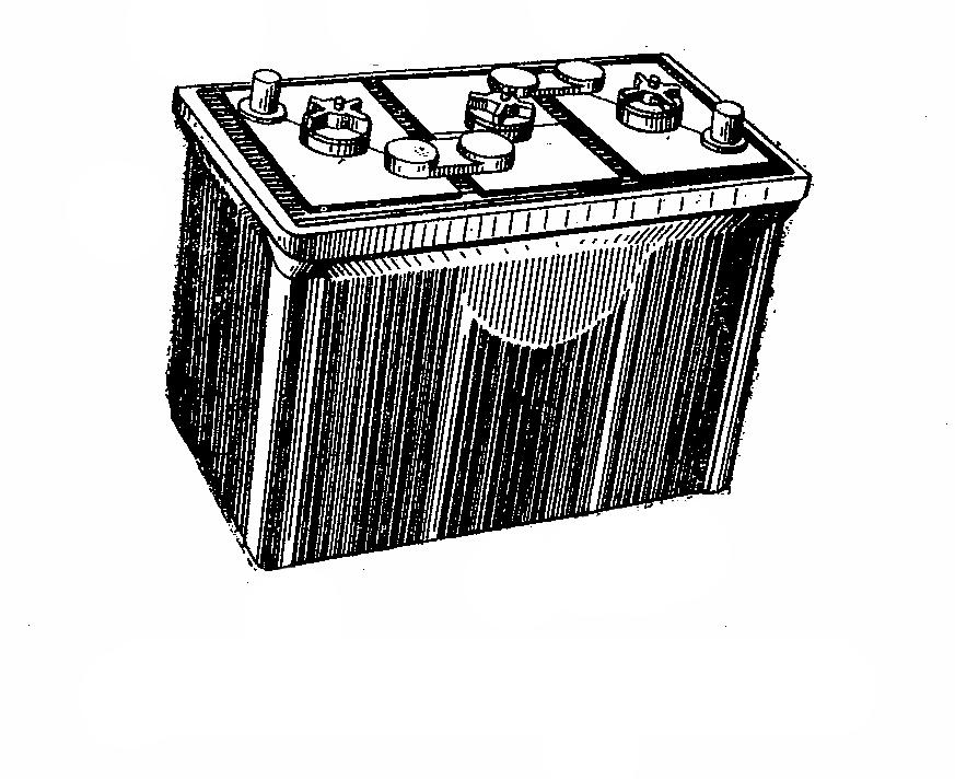 Автомобильная аккумуляторная батарея 3СТ-150. Общий вид