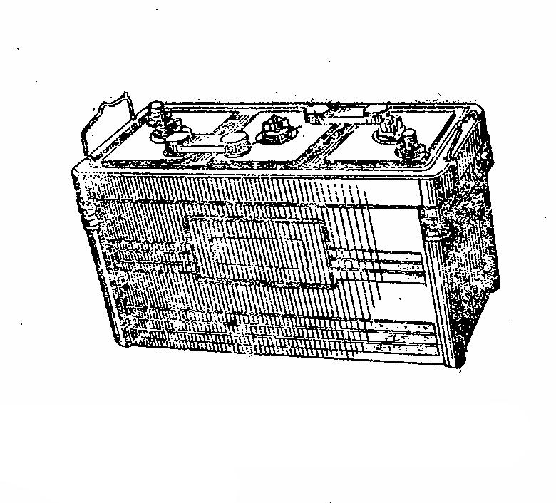 Автомобильная аккумуляторная батарея 3СТ-215. Общий вид
