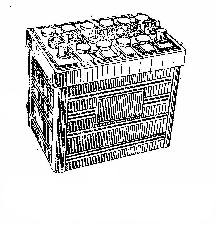 Автомобильная аккумуляторная батарея 6СТ-50. Общий вид