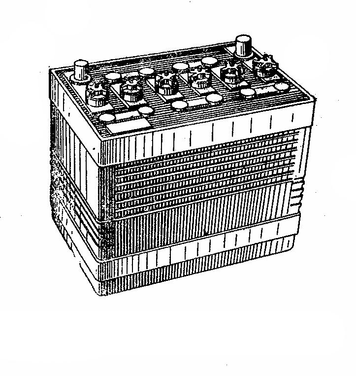 Автомобильная аккумуляторная батарея 6СТ-55. Общий вид