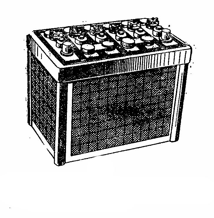 Автомобильная аккумуляторная батарея 6СТ-60. Общий вид