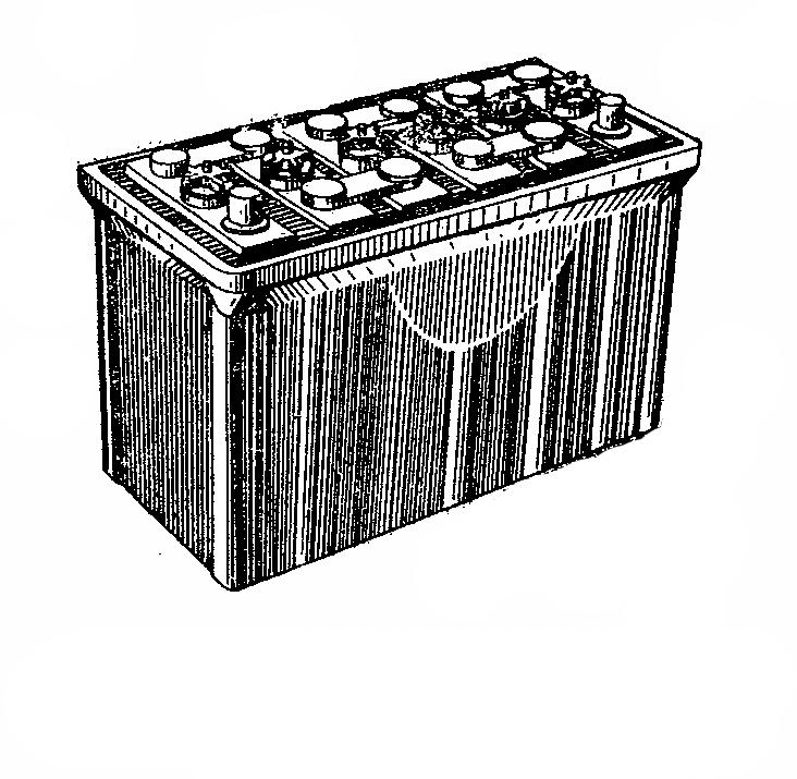 Автомобильная аккумуляторная батарея 6СТ-75. Общий вид