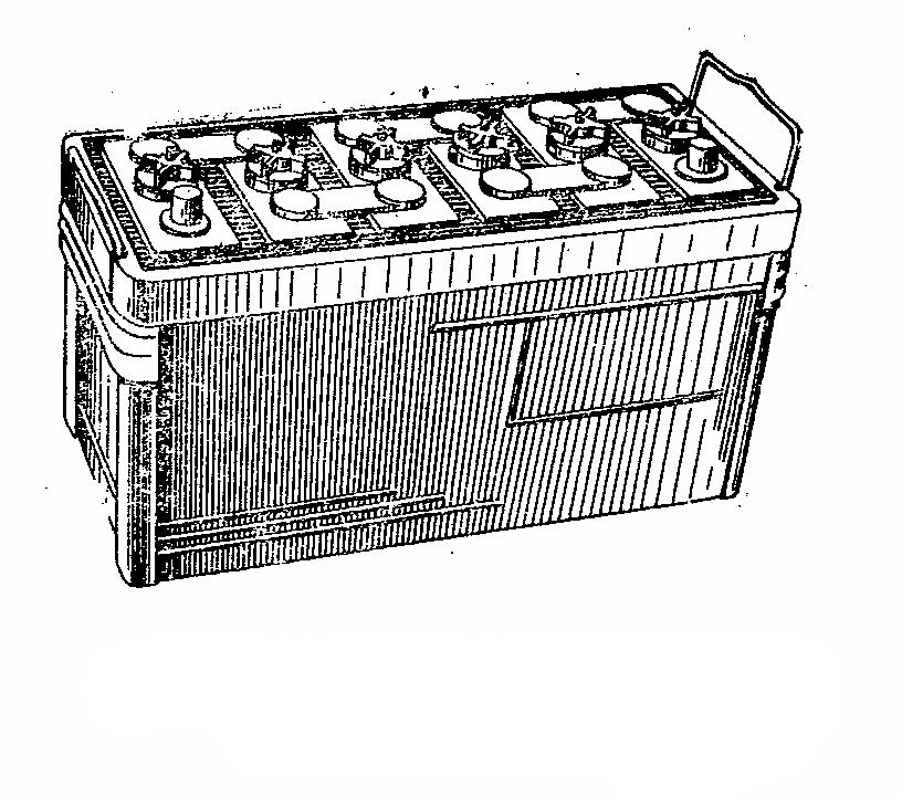 Автомобильная аккумуляторная батарея 6СТ-90. Общий вид