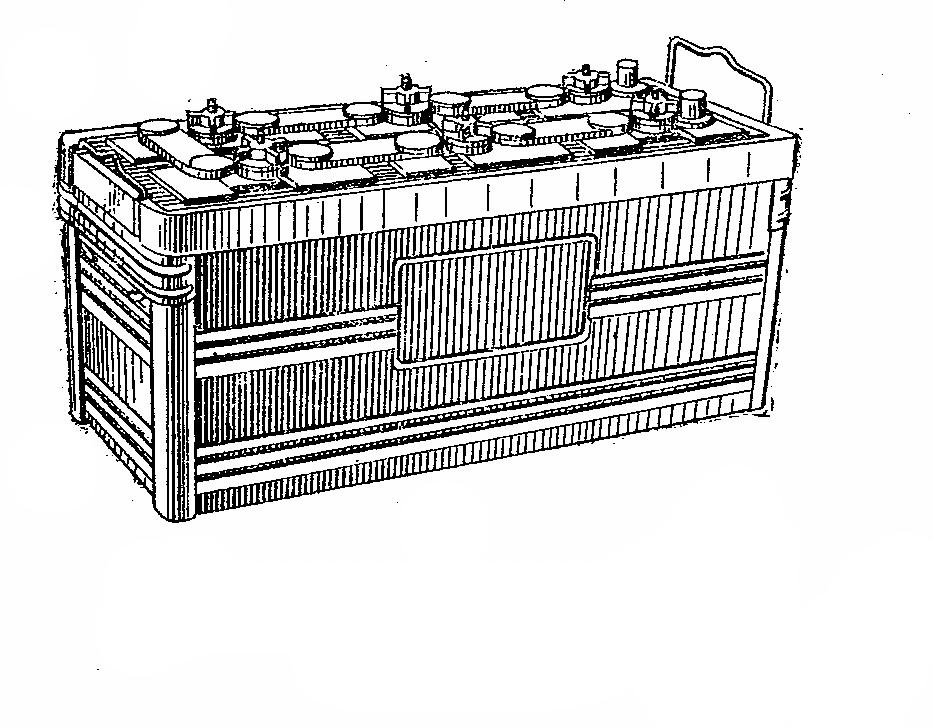Автомобильная аккумуляторная батарея 6СТ-132. Общий вид