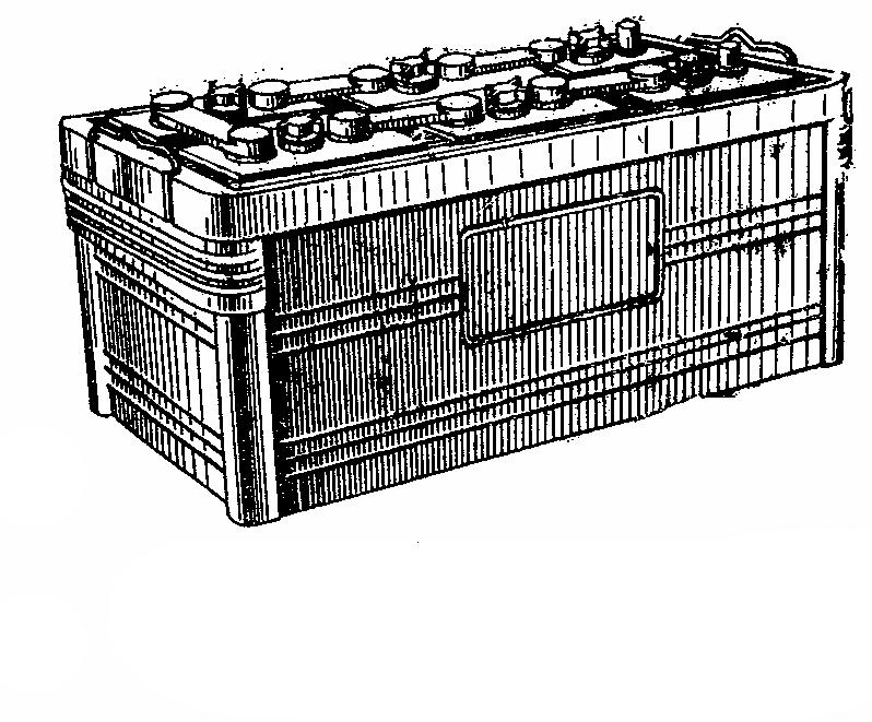 Автомобильная аккумуляторная батарея 6СТ-182. Общий вид