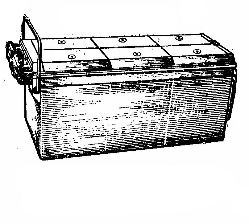 Автомобильная аккумуляторная батарея 6СТ-190. Общий вид