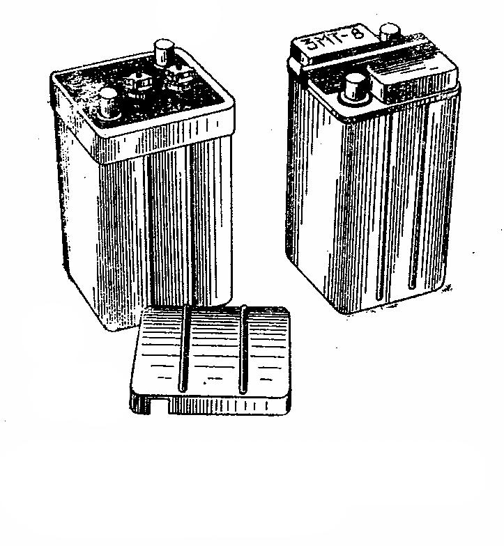Мотоциклетная аккумуляторная батарея 3МТ-8. Общий вид