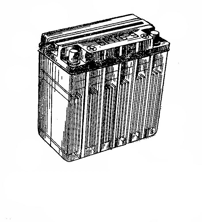 Мотоциклетная аккумуляторная батарея 6МТС-9. Общий вид
