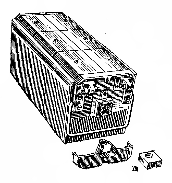 Автомобильная аккумуляторная батарея 6СТ-190ТРН с внутренним электрообогревом