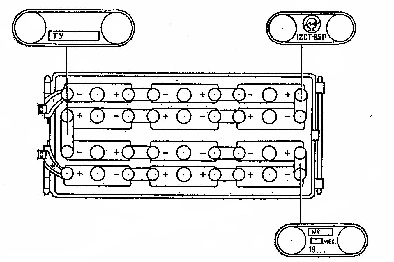 Маркировка 24-вольтовых танковых аккумуляторных батарей