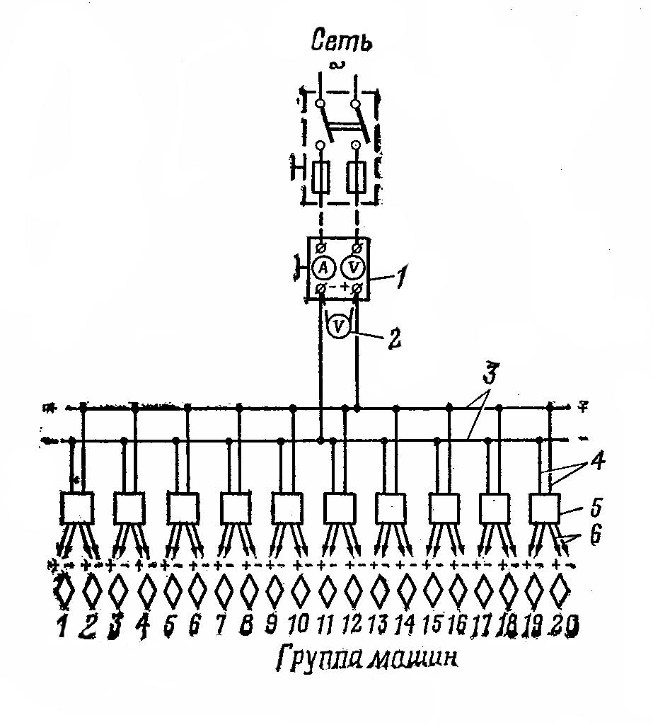 схема контроля подзаряда акб