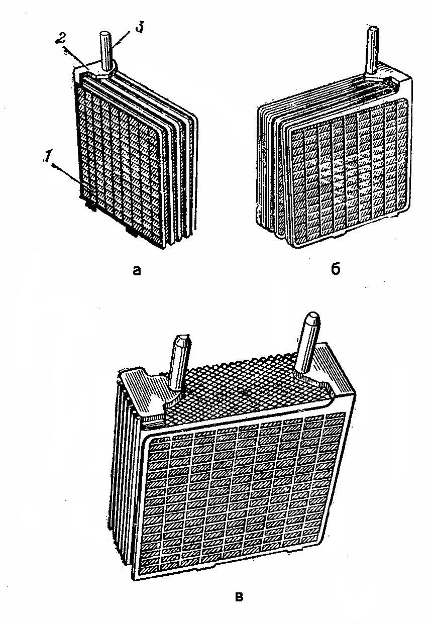 Блок электродов аккумуляторной батареи