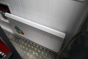Система обогрева аккумуляторной мастерской