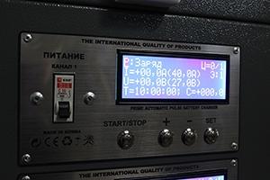 Панель управления каналом шкафа Светоч-02-08.ЖКИ