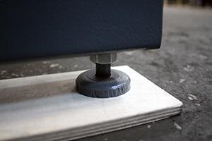 Металлическая ножка однорядного стеллажа КРОН-АКС-1