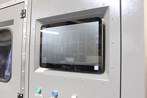 Фото экрана машины мойки щелочных аккумуляторов