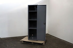 Вид сбоку металлического шкафа ШМА-01-02