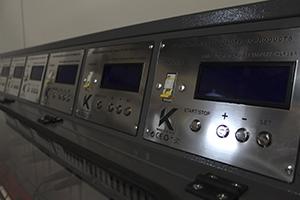 Панель управления зарядно-разрядными каналами
