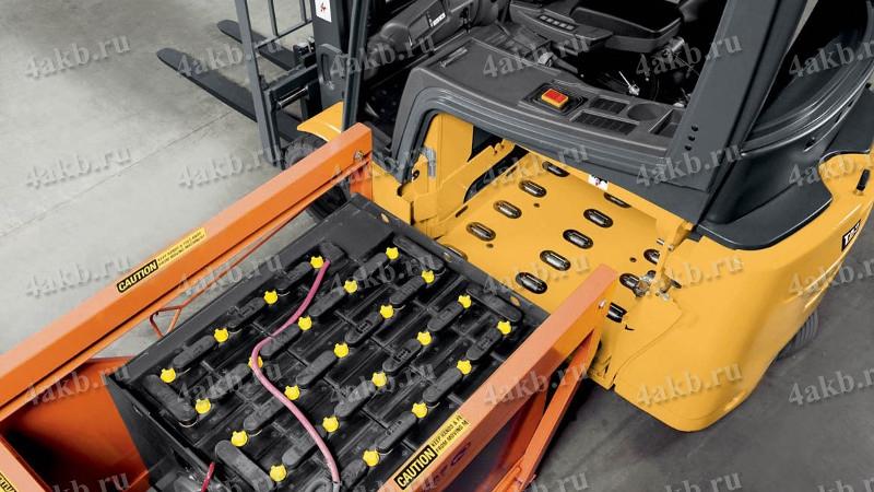 Общий вид аккумуляторной батареи вагона метро