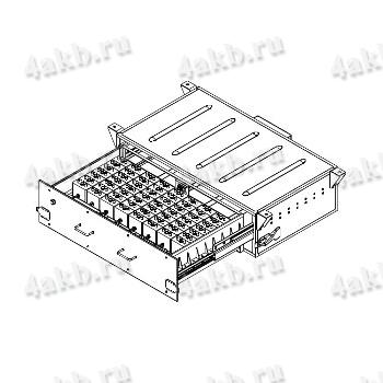 Общий габаритный чертёж ящика для аккумуляторных батарей