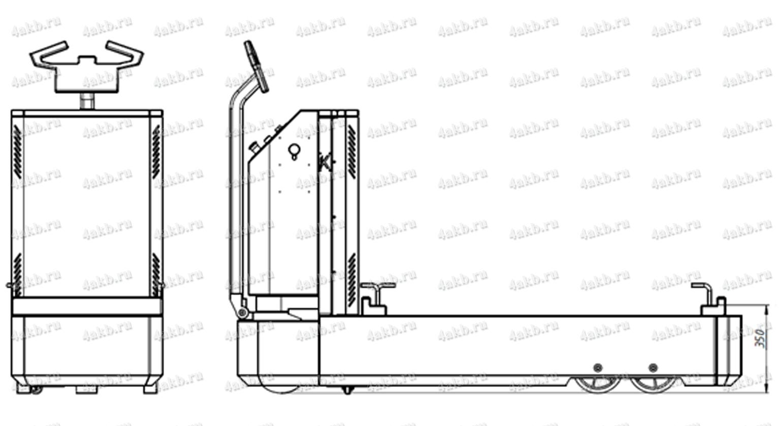 Чертеж тележки для снятия аккумуляторов KRONVUZ-ТПЭ-4