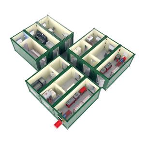 Зарядная аккумуляторная станция 4АКБ-ЮГ-ЗАС на базе пяти 12-ти метровых блок-контейнеров
