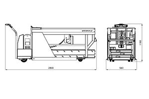 Чертеж автоматической тележки для перевозки АКБ