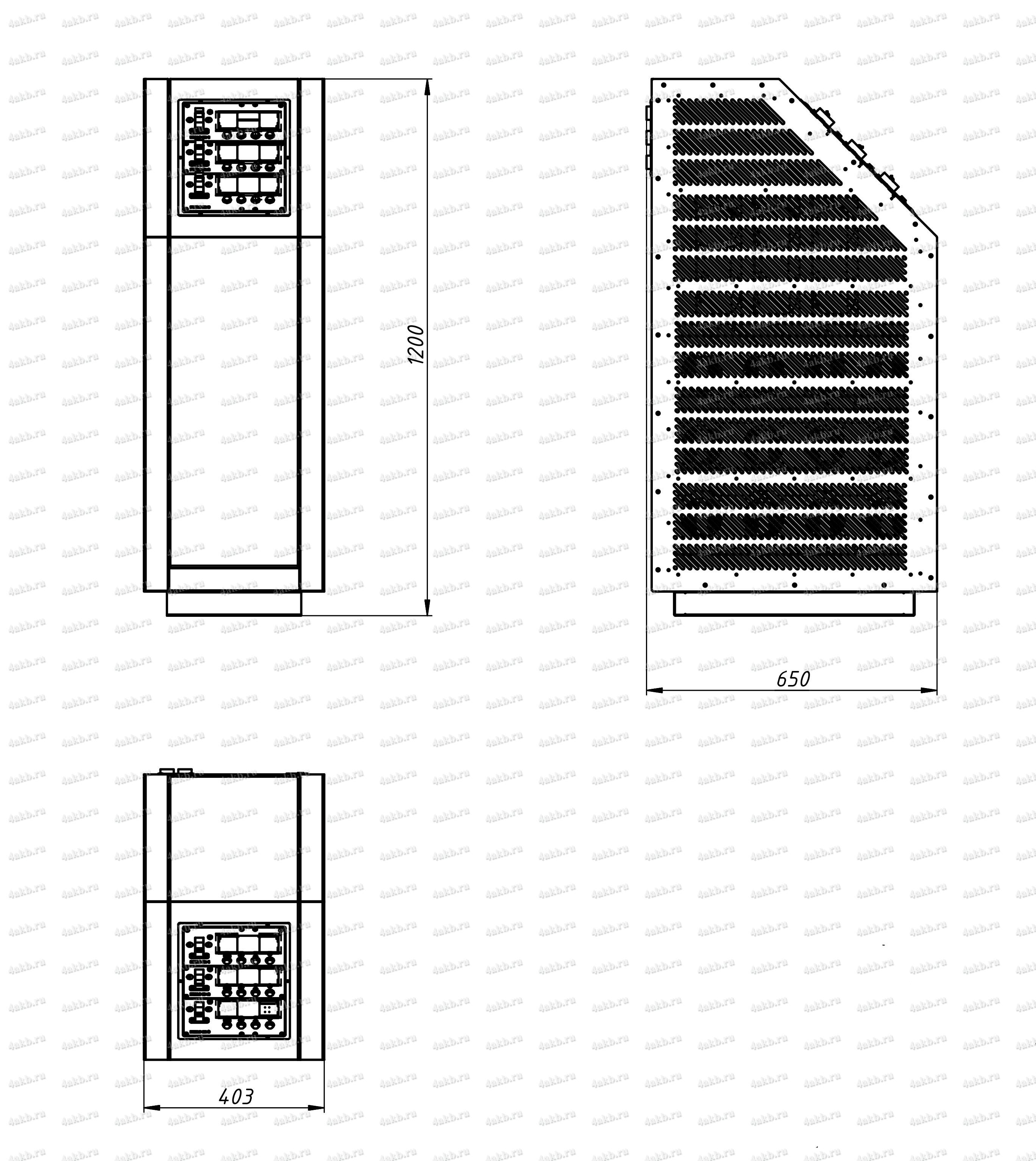 Чертеж программируемого зарядного устройства комплекса 4АКБ-ЮГ-ПЗРК-1