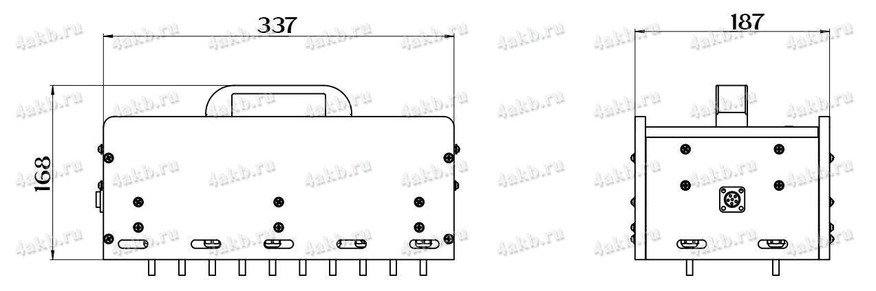 Чертеж устройства поаккумуляторного контроля серии 4АКБ-ЮГ-УПК