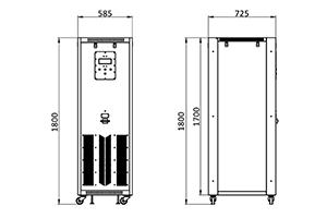 Чертеж зарядного автоматезированного устройства в корпусе серии ВЗА