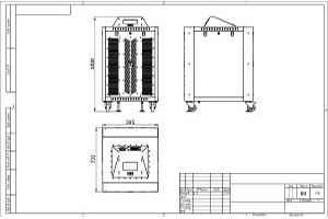 Чертеж зарядного устройства для тяговых аккумуляторов в корпусе серии ВЗА-085