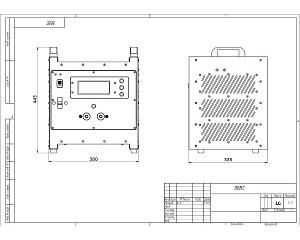 Чертеж импульсного зарядного устройства для авиационных аккумуляторов в корпусе серии Зевс