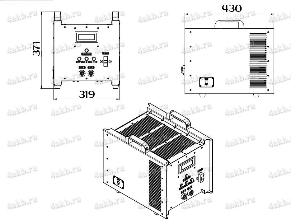 Чертеж зарядно-разрядного однофазного комплекта КЗО-1