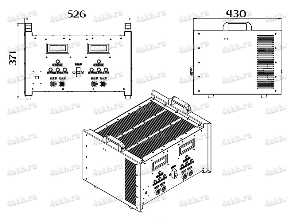 Чертеж зарядно-разрядного однофазного комплекта КЗО-2