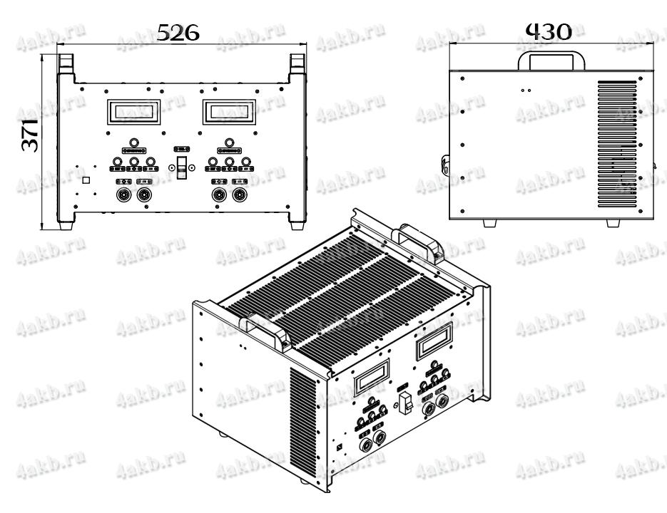 Чертеж десульфатирующего зарядного однофазного комплекта КЗО-2