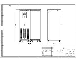 Чертеж зарядно-подзарядного устройства в корпусе ВЗА-2