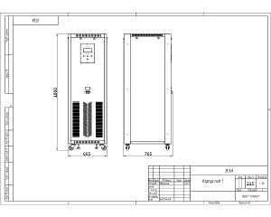 Чертеж зарядно-подзарядного устройства в корпусе ВЗА