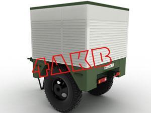 Мобильная установка для заряда АКБ. Задняя стенка контейнера также выполнена из роллеты, фото 3