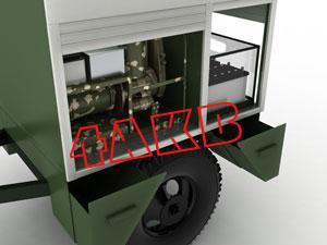 Передвижная универсальная зарядная электростанция. Для удобства различные отсеки контейнера имеют отдельные ролл-двери, фото 8