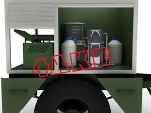 Каждый из трех отсеков контейнера передвижной электростанции имеет отдельные ролл-двери, фото 15