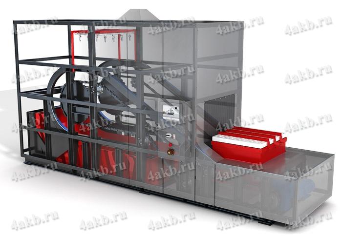 Установка автоматической мойки, сушки и слива электролита УМС-АБ-16