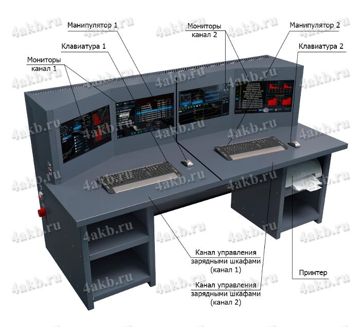 Пульт управления зарядно-разрядным комплексом