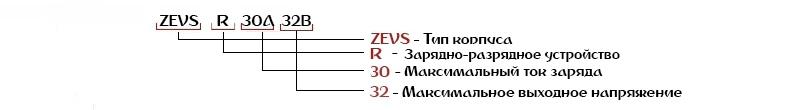 Расшифровка зарядных устройств ZEVS-R