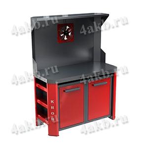 Двухтумбовый стол для ремонта АКБ КРОН-СДР-11