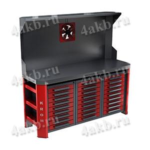 Двухтумбовый стол для ремонта АКБ ООО РМЗ-СДР-999