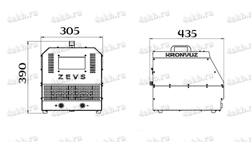 Чертеж импульсного зарядно-разрядного устройства серии ZEVS-R