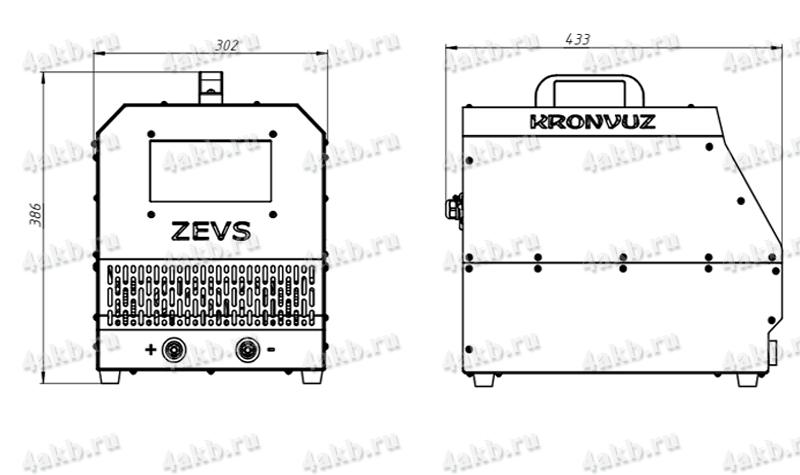 Чертеж импульсного зарядно-разрядного устройства серии Зевс-Авиа-Р